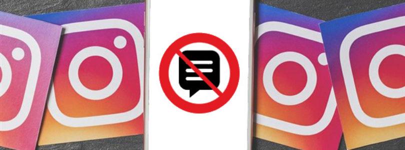 Come bloccare i commenti di una persona su instagram